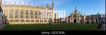 Vista panorámica del King's College Cambridge, fundado por el rey Enrique VI en 1441