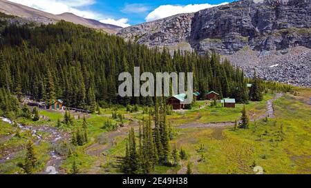 Shovel Pass Lodge, Skyline Sendero de caminatas en Jasper, Parque Nacional Jasper, Montañas Rocosas, Alberta, Canadá