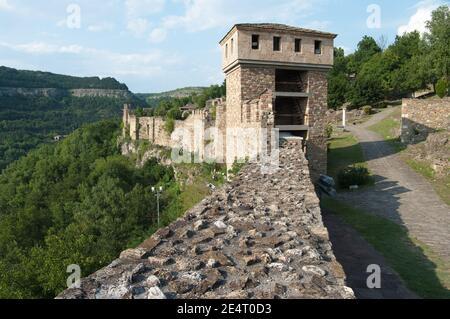Pared y torre de la fortaleza de Tsarevets en Veliko Tarnovo, Bulgaria