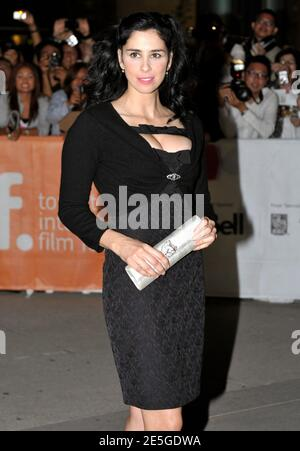 Actress Sarah Silverman poses at the gala presentation for the film 'Take This Waltz' at the 36th Toronto International Film Festival September 10, 2011.     REUTERS/Mike Cassese   (CANADA - Tags: ENTERTAINMENT)