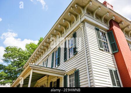 Alabama Montgomery primera Casa Blanca de la Confederación, Guerra Civil 1835 estilo italiano exterior entrada frontal,