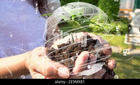Conservación ambiental futura y desarrollo sostenible de la modernización de ESG mediante el uso tecnología de recursos renovables para reducir la contaminación y.