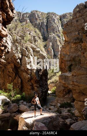 Senderismo / klofing a Cedar Falls, Baviaanskloof, Sudáfrica