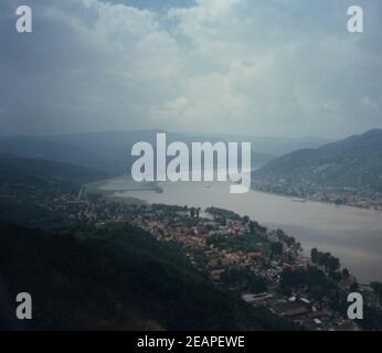 Hungría 1979, Vista sobre el Danubio en Budapest 4