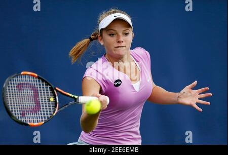 Tenis - Aegon Classic - Edgbaston Priory Club, Birmingham - 15/6/15 Katie Swan de Gran Bretaña en acción durante la primera ronda Imágenes de acción vía Reuters / Andrew Boyers Livepic