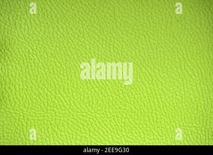 Cuero auténtico con un patrón de malla, teñido artificialmente en limoncillo verde ácido. Fondo, patrón, textura.
