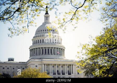 Fachada del Capitolio de los Estados Unidos, Washington DC, EE.UU