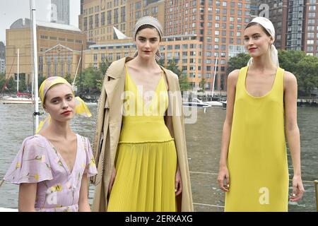 Modelo poses durante la Lela Rose New York Fashion Week Primavera Verano 2019 Colección Presentación de Moda en Nueva York, NY el 11 de septiembre de 2018. ?(Foto de Jonas Gustavsson/Sipa USA)