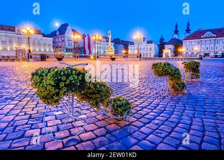 Timisoara, Rumania. Baroque capital arquitectónica de Banat, viaje vista oeste Transilvania.