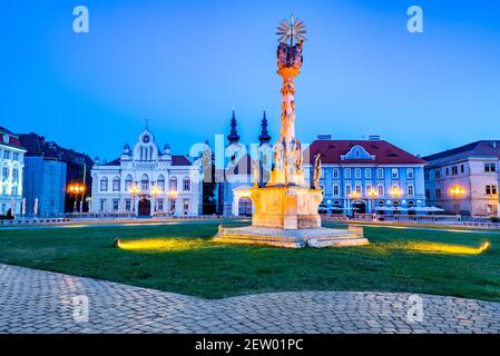 Timisoara, Rumania - Plaza de la Unión, la arquitectura de Banat oeste de Transilvania.