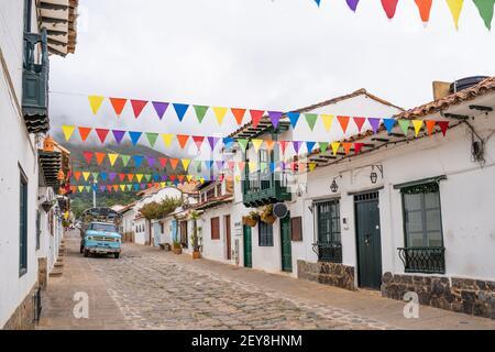 Rue typique du Village de Villa de Leyva, Boyacá, Colombia