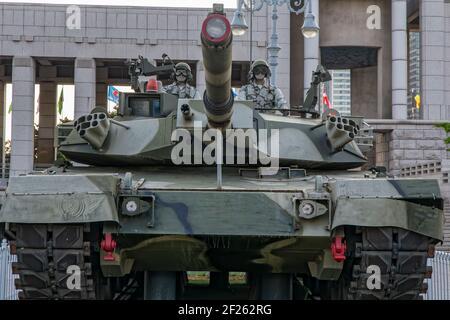 Seúl, Corea del Sur. 27th de mayo de 2017. Tanque K-1 en el Museo Memorial de Guerra de Corea.