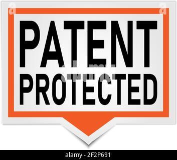 red vector banner patente protegido discurso burbuja