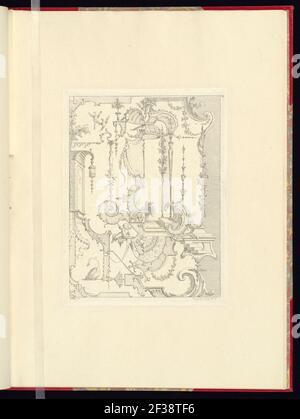 Imprimir, nouveau livre de princpes d'ornements particulièrement pour trouver un nombre infini de formes qui dependent, d'après les dessins de Gillot. Peintre du Roy, gravé par Huquier; pl. 10