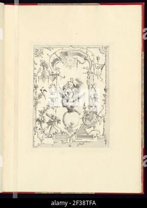 Imprimir, nouveau livre de princpes d'ornements particulièrement pour trouver un nombre infini de formes qui dependent, d'après les dessins de Gillot. Peintre du Roy, gravé par Huquier; pl. 11