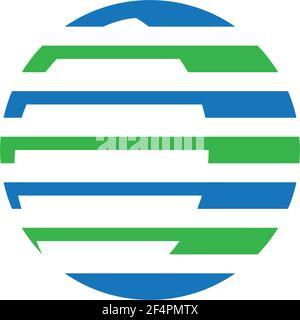 Diseño de ilustración de icono de vector de logotipo global