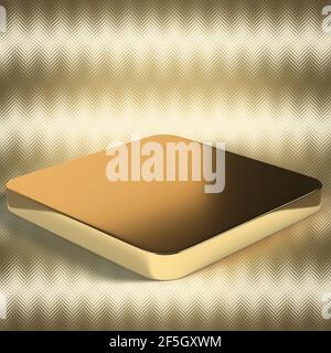 Una imagen abstracta de fondo en forma de cubo de oro de 3D.