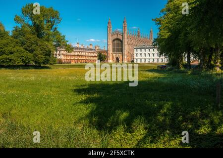 Kings College Chapel desde la espalda Cambridge Inglaterra