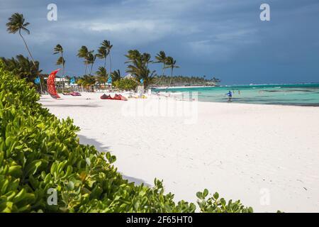 República Dominicana, Punta Cana, Kitesurfing en el Kite Club, Playa Blanca