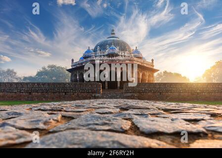 Humayun Tomb Complex en la India, la tumba de Isa Khan, Nueva Delhi.