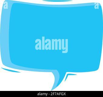 diseño de globo de texto cuadrado azul