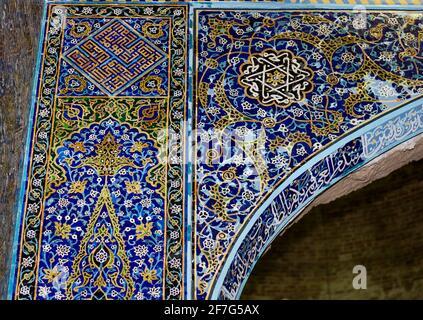 Detalle de las baldosas, Mezquita Azul, Tabriz, Irán
