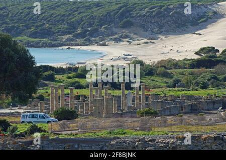 España: Los restos de la ciudad romana de Baelo Claudia cerca de Bolonia