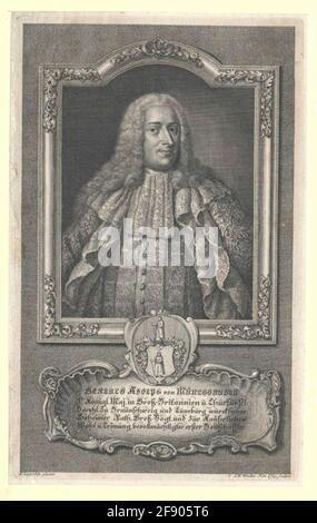 Münchhausen, Gerlach Adolf Freiherr von Stecher: Windter, Johann Wilhelmdatierung: 1711 / 1765Factable génesis: Nuremberg