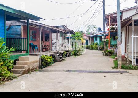 Calle en el pueblo de ELL Castillo en el río San Juan, Nicaragua