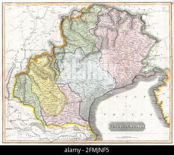 Mapa de cobre vintage grabado de - del siglo 19th. Todos los mapas tienen un hermoso color e ilustraciones que muestran el mundo en ese momento.