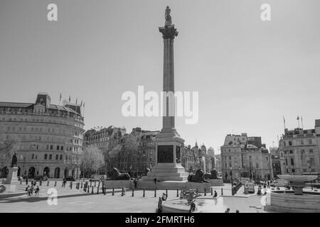 Trafalgar Square Londres y Nelson's Column, Londres, Reino Unido.