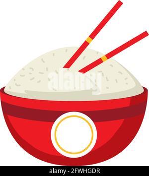 en un tazón de arroz
