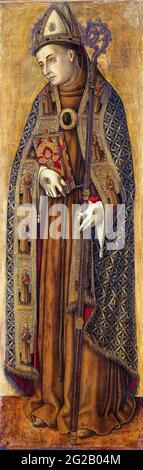 San Luis (Luis IX, Rey de Francia, 1214-1270), retrato de Vittore Crivelli, 1481-1502