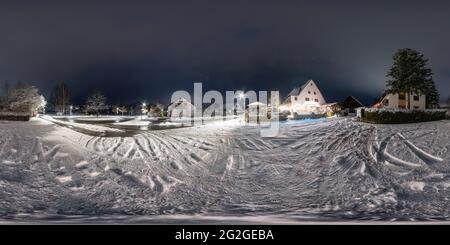 Burgthann - Mimberg en la noche, panorama de 360 grados, Franconia Media, Baviera