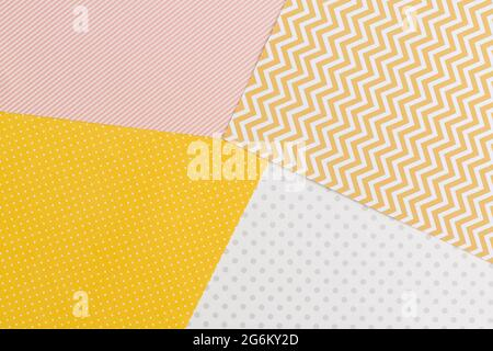 Textura abstracta de papel geométrico de color pastel