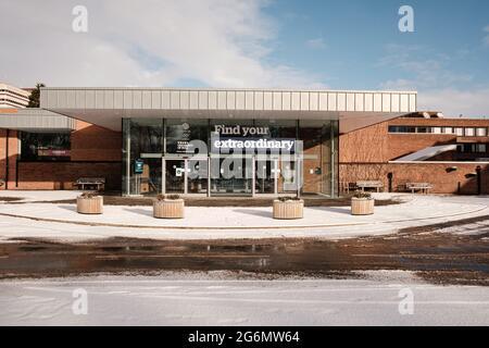 Universidad de Hull durante el invierno
