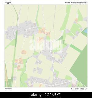 Koppel, Alemania, Renania del Norte-Westfalia, N 52 19' 2'', E 8 59' 42'', MAP, Timeless Map publicado en 2021. Viajeros, exploradores y aventureros como Florence Nightingale, David Livingstone, Ernest Shackleton, Lewis y Clark y Sherlock Holmes se basaron en mapas para planificar viajes a los rincones más remotos del mundo, Timeless Maps está trazando la mayoría de los lugares del mundo, mostrando el logro de grandes sueños
