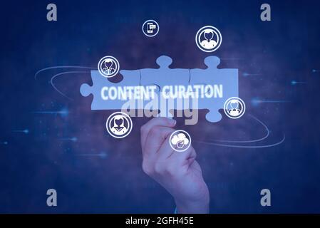 Muestra la duración del contenido. Concepto Significado Proceso de recopilación de información relacionada con un determinado tema Mano de sujeción Jigsaw Puzzle Piece