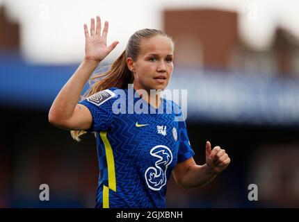 Fútbol - Super Liga Femenina - Chelsea v Everton - Kingsmeadow, Londres, Gran Bretaña - 12 de septiembre de 2021 Chelsea's Guro Reiten Action Images via Reuters/Andrew Boyers