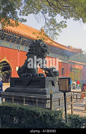 CHINA BEIJING el Templo Lama es el más famoso templo budista tibetano fuera de Tíbet Foto de stock