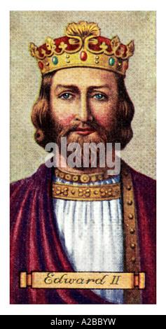 El rey Eduardo II uno de un conjunto de 50 sólo para uso editorial