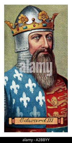 King Edward III uno de un conjunto de 50 sólo para uso editorial