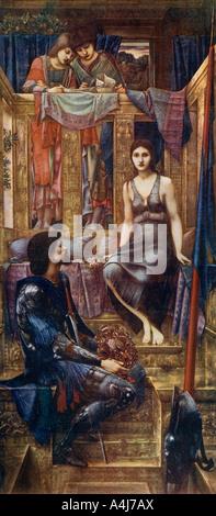 """""""El Rey Cophetua y la mendiga Maid"""", 1884, (1912).Artista: Sir Edward Coley Burne-Jones"""