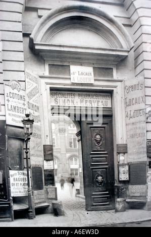 París, Francia, 'Musee d'Art et d'Histoire du Judaisme ''Museo Judío' 'H otel de St Aignan' foto histórica entrada