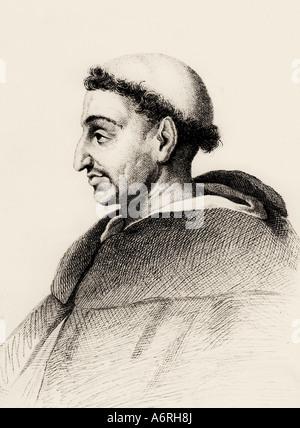Girolamo Savonarola, 21.9.1452 - 23.5.1498, clérigo Italiano, retrato, después del grabado, siglo XVIII, tonsura, tonsura, reformada