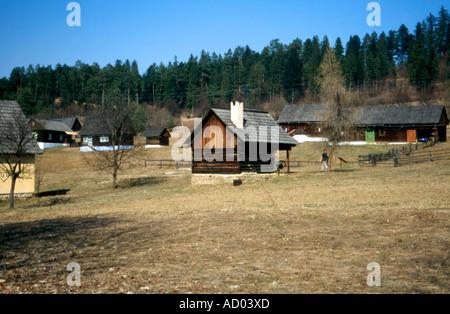 Stara Lubovna aire libre museo folclórico, Eslovaquia