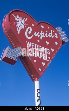 Cupids Wedding Chapel firmar Las Vegas, EE.UU. Foto de stock