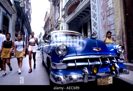 Los coches de La Habana Vieja Habana Transporte temporizador Taxi Transporte Público americana clásica de coches antiguos