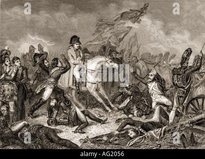 Napoleón Bonaparte, 1769 - 1821. El emperador de los franceses. Napoleón en Waterloo, 1815. Foto de stock