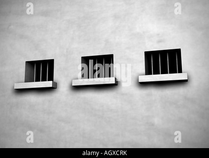 La cárcel Gefaengnis Foto de stock